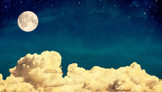Dream Clouds and Moon